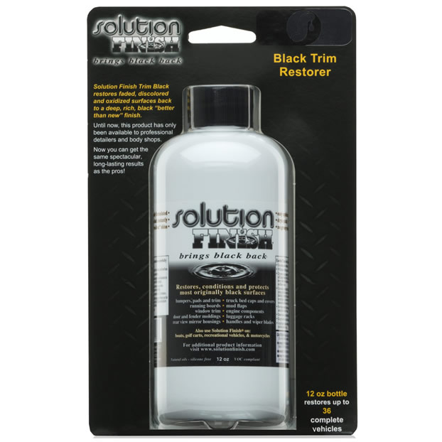 Solutions Finish black tire
